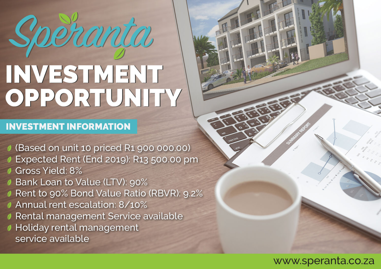 Speranta Investment Opportunity information